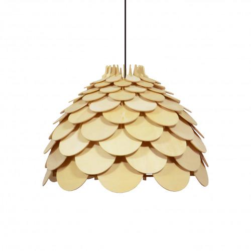 MUTONE - Suspension dôme en écailles de bois