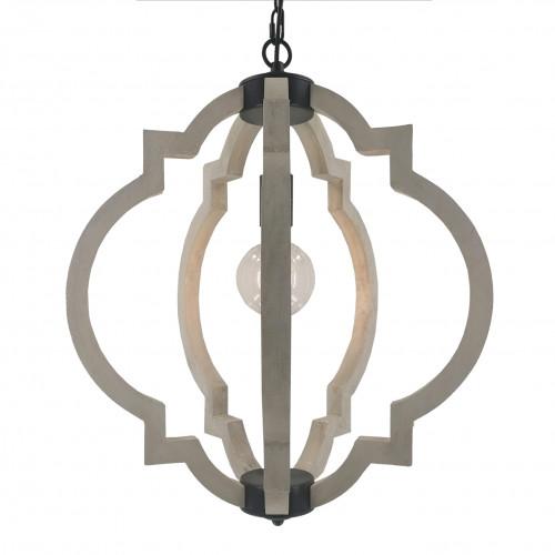 JANOS - Suspension baroque moderne bois et métal