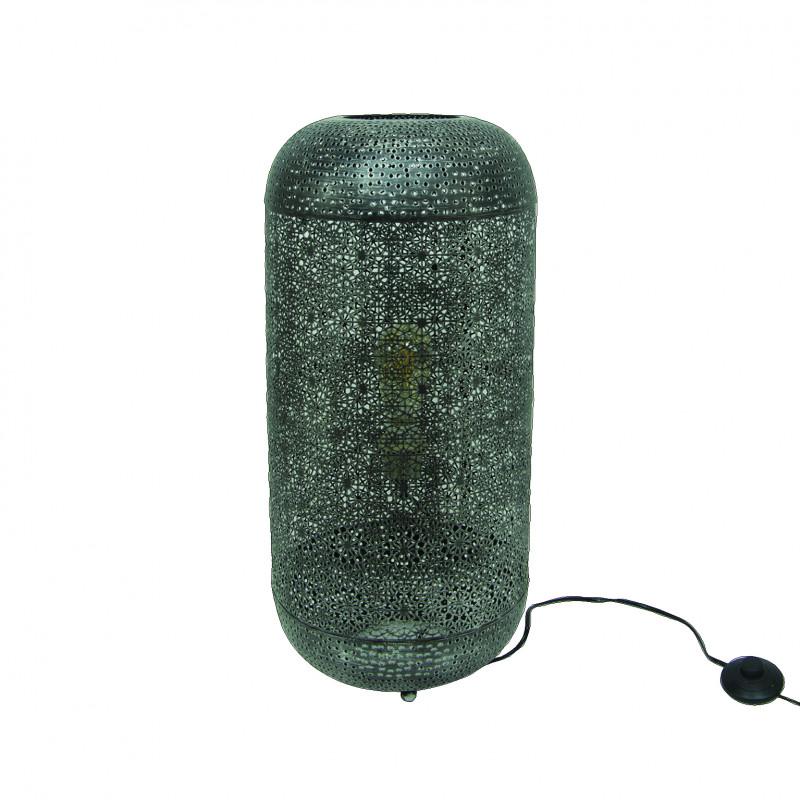 LAMPE DE SOL STYLE ORIENTAL EN METAL PERFORE - GUERDI
