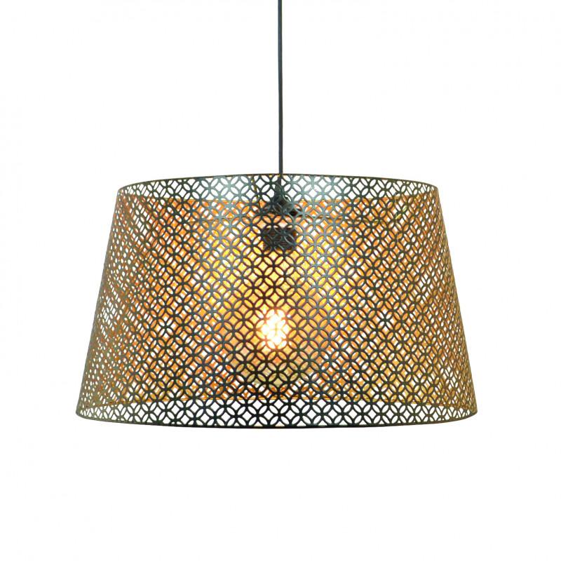 Suspension métal ajouré motifs graphiques intérieur doré - CHUDEN