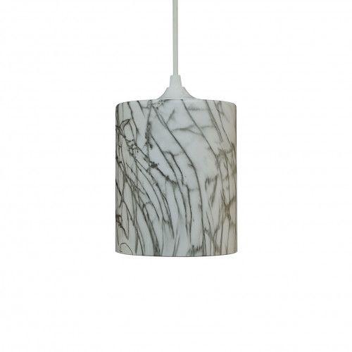 Petite suspension Jing en verre peint imitation marbre