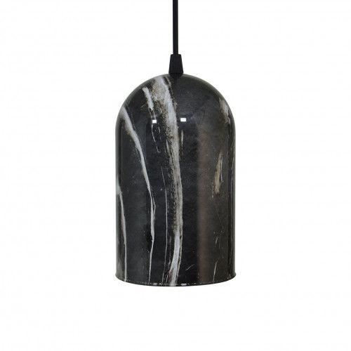 Suspension allongée Ling en verre peint imitation marbre