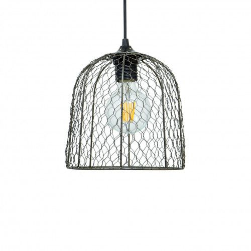 Petite suspension Clochine style campagne en grillage