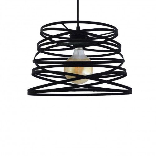 Luminaire filaire design Helicoidal en métal plat peint