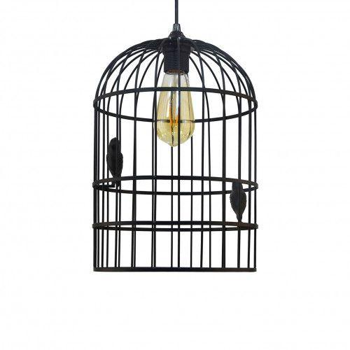 Suspension cage à oiseaux Isabella en métal peint