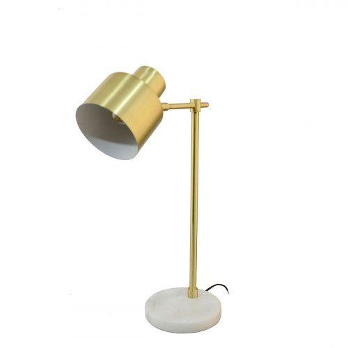 Lampe en métal et marbre - BALZANE