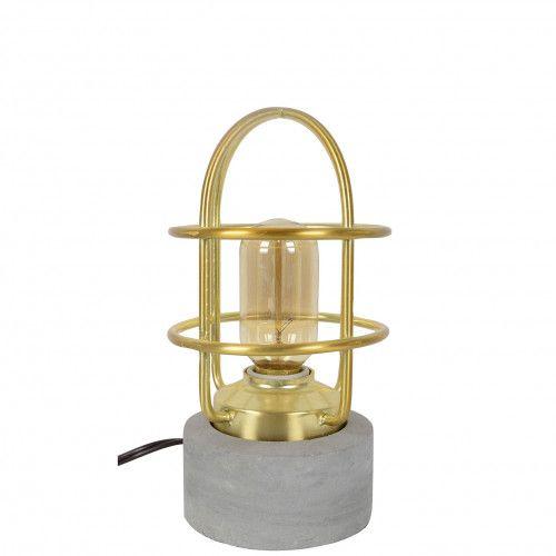 Lampe marin Pernerf en ciment et métal doré