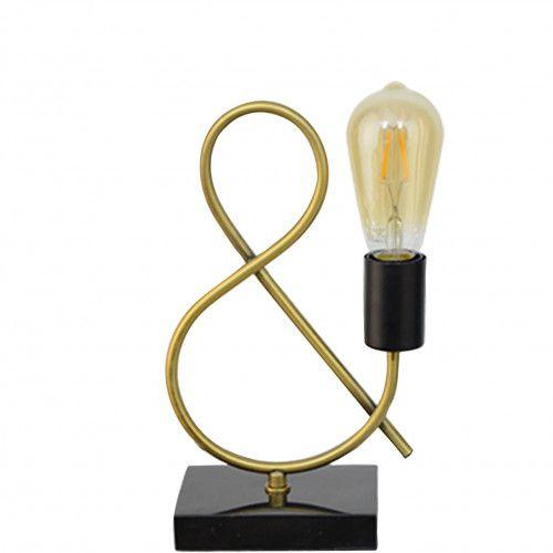 Lampe tendance Brighton en métal doré et marbre noir