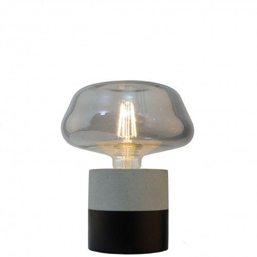 Pied de lampe Buzine en ciment bicolore