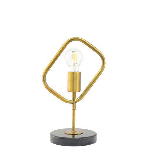 Lampe design Oxford en métal doré et marbre noir