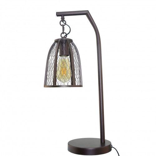 Lampe en métal et grillage - BAZILE