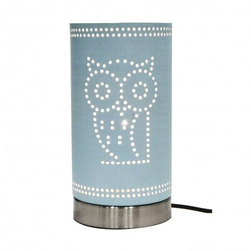 Lampe touch Hubu perforations dessin hibou e14