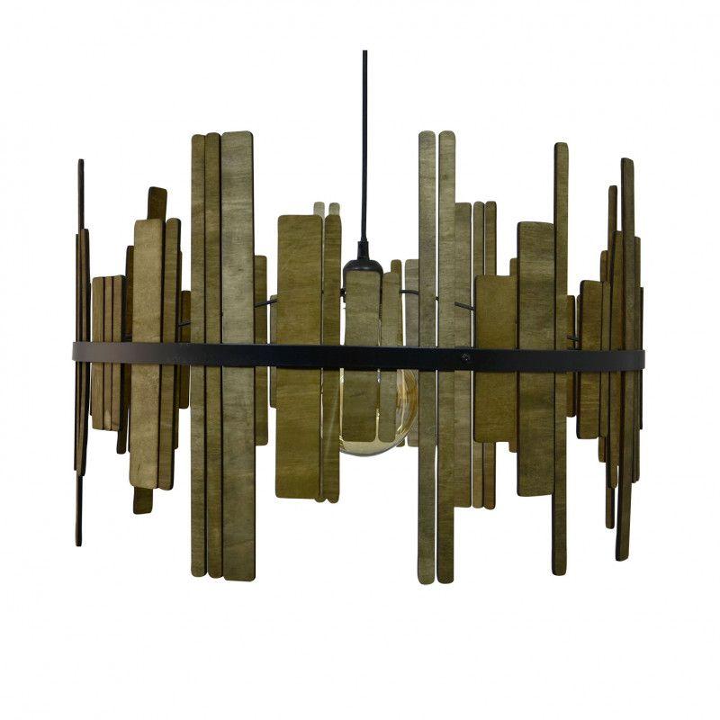 luminaire design en bois exotique
