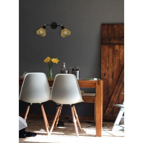 Applique Coblence en bois naturel - 2 lumières