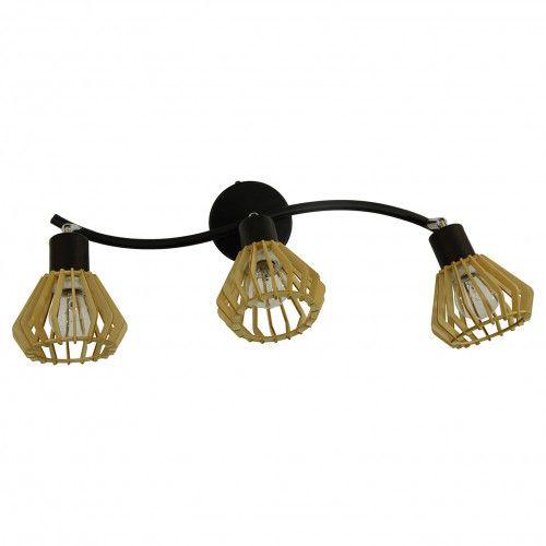 Applique Coblence en bois naturel - 3 lumières